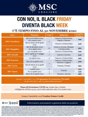 Black Friday MSC Crociere!