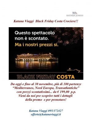 Black Friday Costa Crociere!